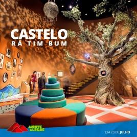 foto referênte a Exposição RÁ – TIM – BUM O Castelo